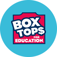 Box tops for education logo in a blue circle